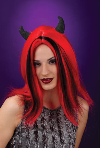 Devil Wig with Black Horns