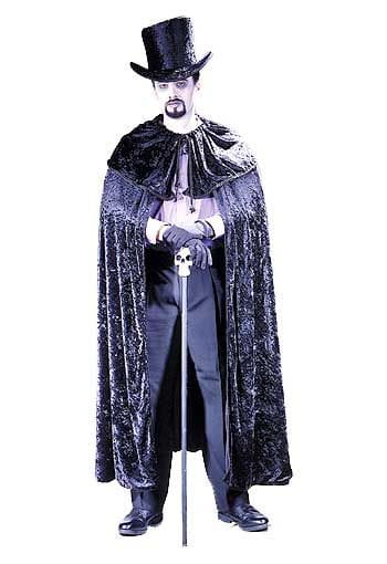 Gothic Cape Diamond Schwarz