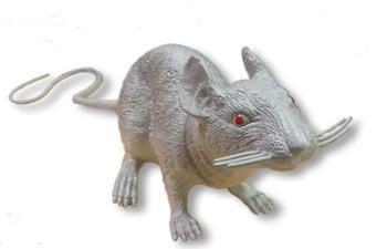 Graue Kunststoff Ratte