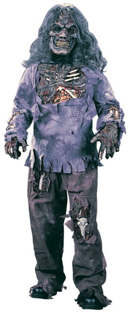 Zombie Deluxe Child Costume Small