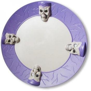 Totenschädel Platzteller violett