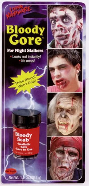 Krustenblut als Spezial Make-up Effekt
