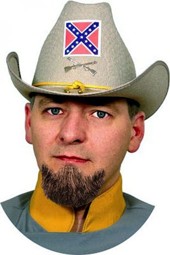 Real Hair Beard General Brown