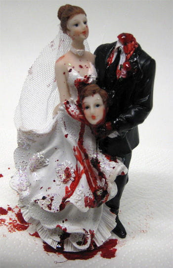 Bridal Couple with Beheaded Groom