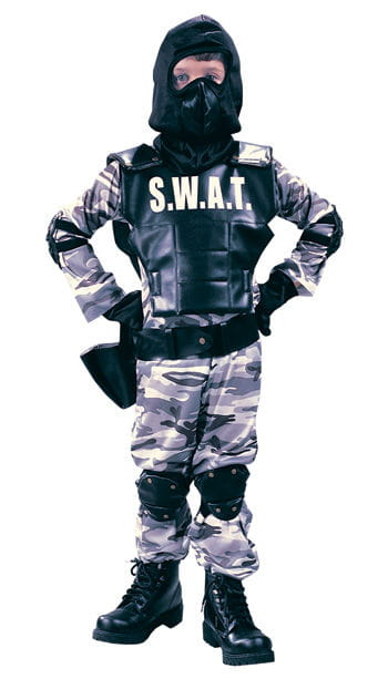 Child SWAT Police Costume Size M