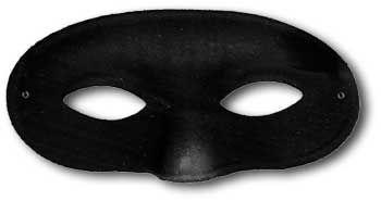 Schwarze Zorro Maske