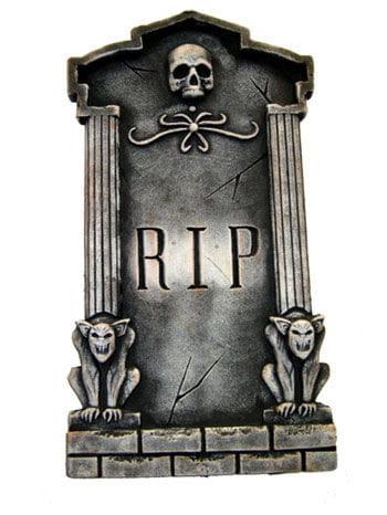 Grabstein mit Skull und Gargoyles