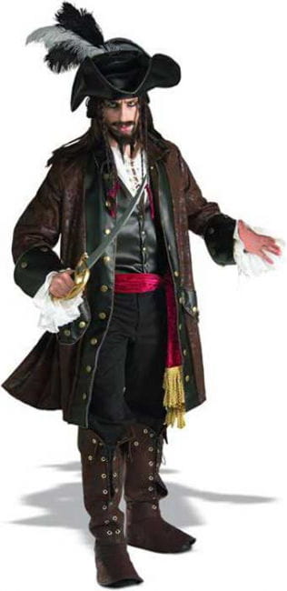 Caribbean Pirate Costume Deluxe