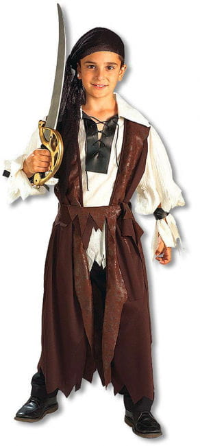 Carribean Pirate Child Costume L
