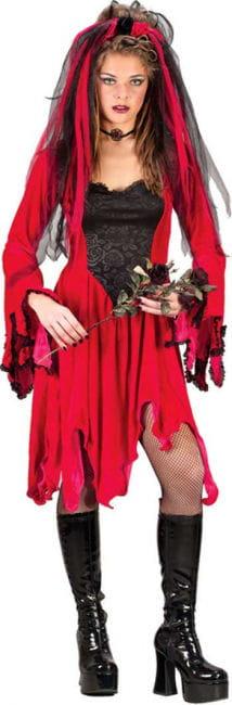 Velvet Devil Bride Costume. M / L