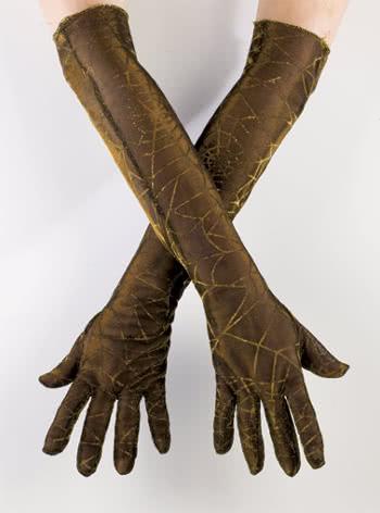 Spinnweben Handschuhe gold