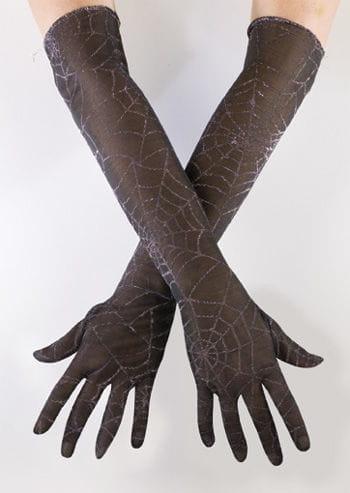 Spinnweben Handschuhe silber