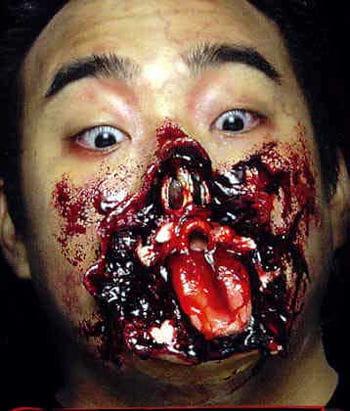 Zerschossenes Gesicht