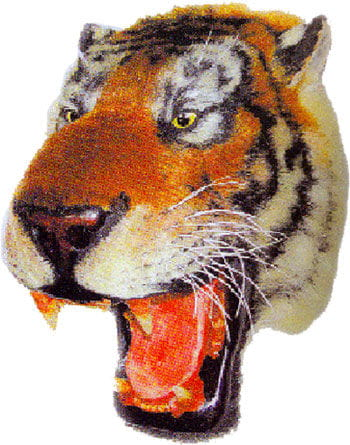 Tiger Head Decoration