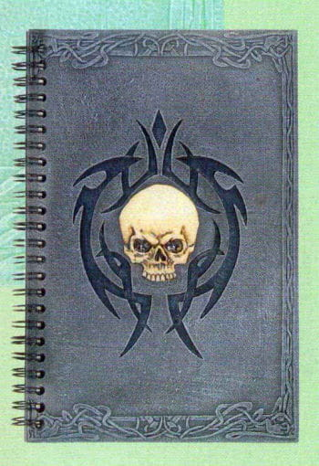 Halloween Guestbook With Skull Tribal Frame