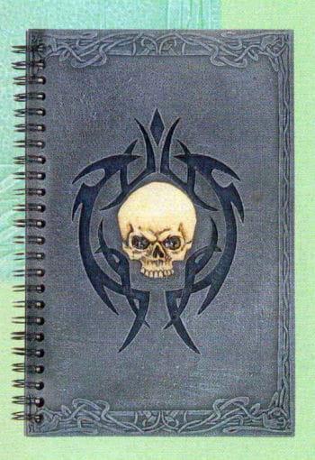 Halloween Gästebuch mit Skull Tribal-Rahmen