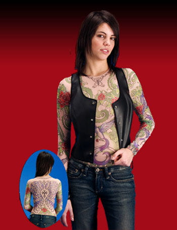 Tattoo T Shirt Girl Size S