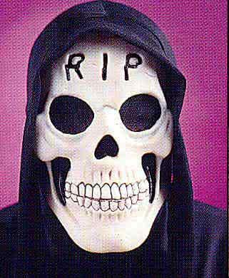 Glow in the Dark Maske RIP