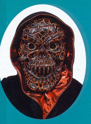 Crakled Skull Maske Orange