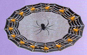 Cobwebs Plate with Glitter