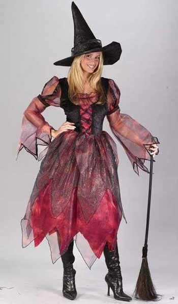 Herbst Hexe Deluxe Kostüm Gr. 36-38 S/M