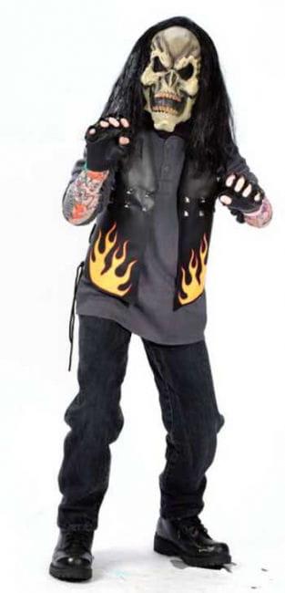 Zombie Biker Child Costume M