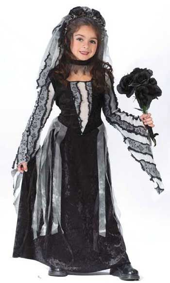 Black Rose Witch Child Costume L