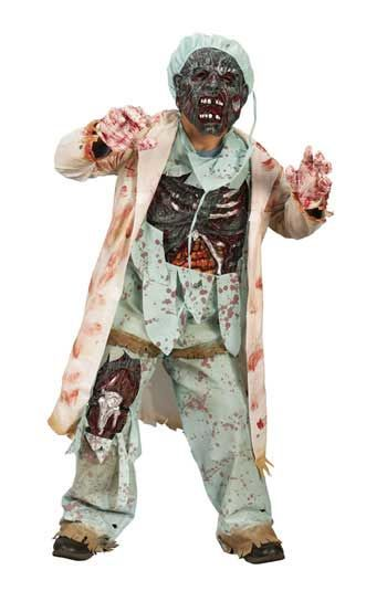 Zombie Doctor Deluxe Child Costume. M