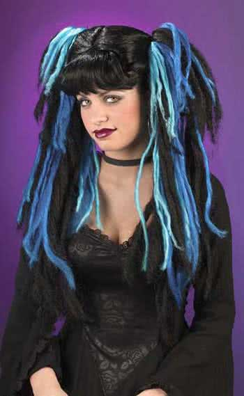 Gothic Witch Wig Blue