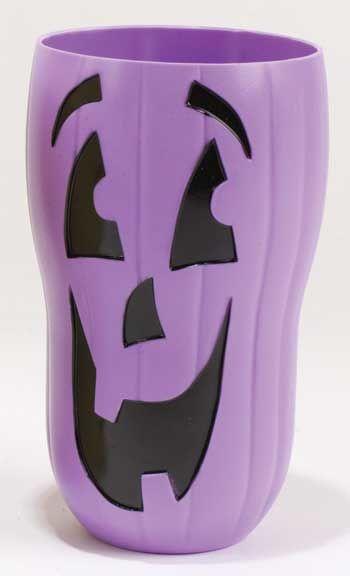 Halloween Trinkbecher Kürbis Lila