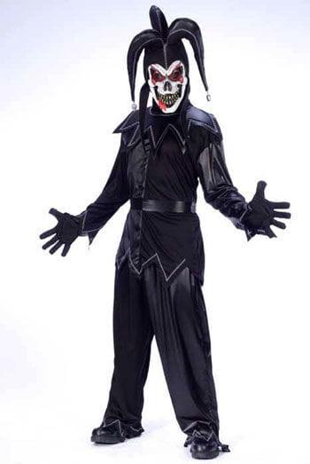 Jester Clown Kostüm schwarz
