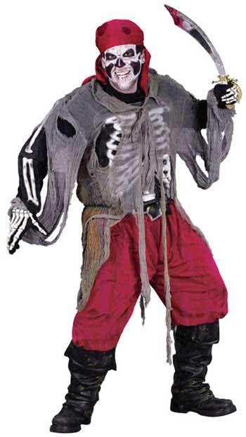 3D Zombie Piraten Kostüm