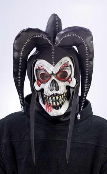 Jester Clown Mask Black