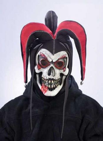 Jester Clown Maske rot