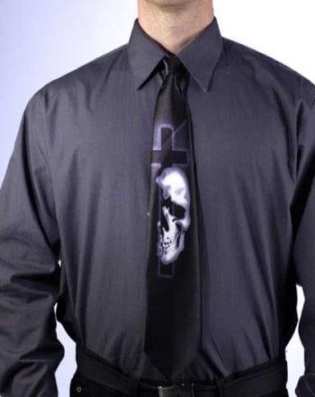Horror Krawatte Totenschädel