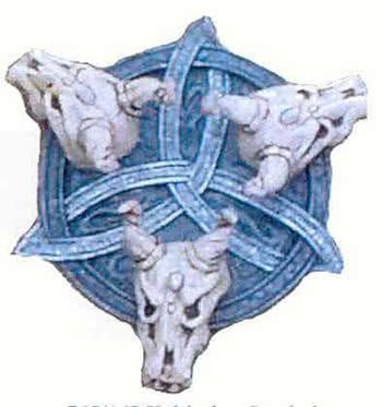 Celtic Symbol with Gnu Skulls
