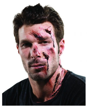 Unfall Schmink Set für Halloween 15 tlg.
