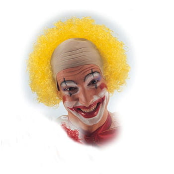 Clown bald with yellow curls