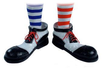 Clown Schuhe schwarz/ weiß