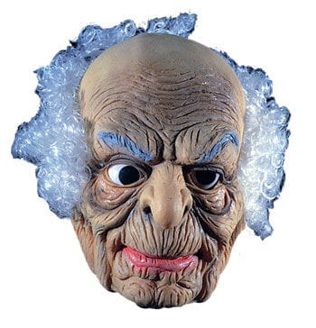 Old Man Latex Mask with Hair