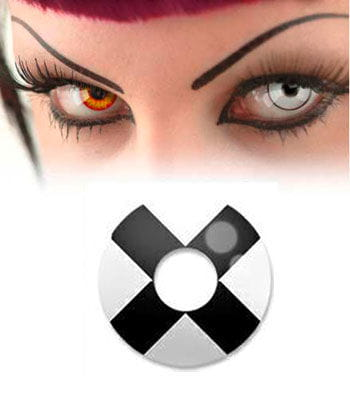 Black and white contact lens X