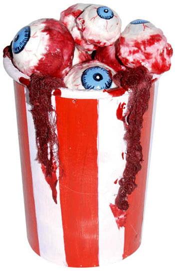 Trinkbecher voller Augen