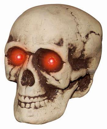 Creepy LED skull