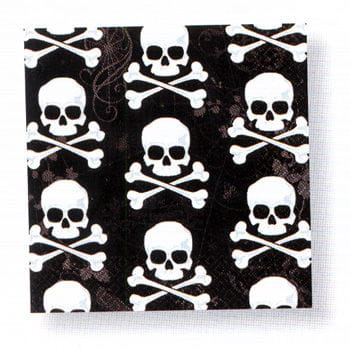 Skull black napkins