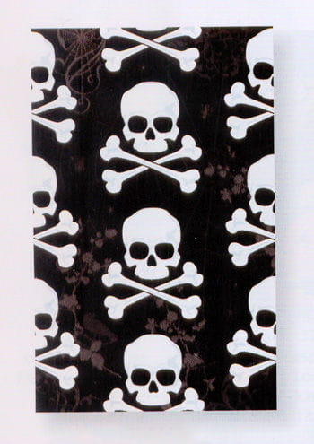 Black Tablecloth with Skulls