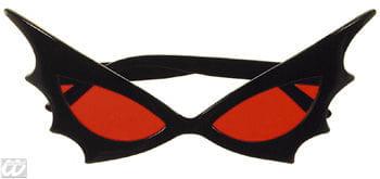 Bat Woman Sonnenbrille rotes Glass