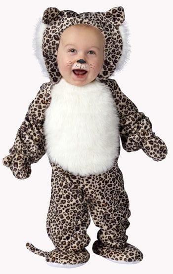 Plush Leopard Baby Costume Small