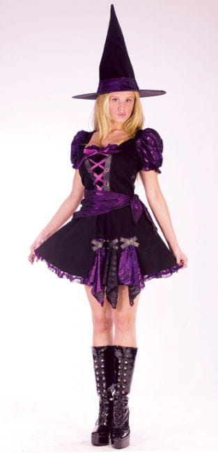 Purple Punk Witch Costume