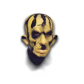 Schwefel Zombie Maske aus Schaumlatex