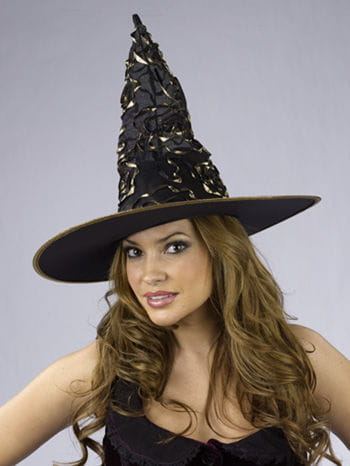 Witch Hat with Gold Glitter